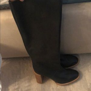See by Chloe knee high black leather boots
